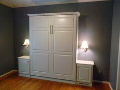 Custom Murphy bed with 2 nightstands by Murphy Wallbed USA murphywallbedusa.com