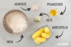 Kartoffelbrot einfach selber backen mit übrig gebliebenen Kartoffeln Bread, Recipes, Food, Potato, Easy Meals, Essen, Brot, Baking, Eten