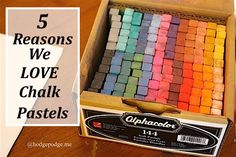 (With a giant giveaway through 8/13/15!) 5 Reasons We Love Chalk Pastels plus a listing of art inspiration that is frugal, fun, for all ages and even easy clean up!