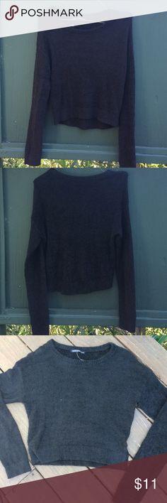 Super Soft Black Brandy Melville Sweatshirt Black Sweatshirt from Brandy Melville. Super soft and fluffy !! Only worn once. Brandy Melville Sweaters