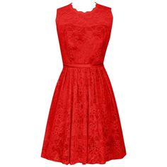 Dresstells Women's Scoop Lace Bridesmaid Dress Short Homecoming Party... (300 BRL) ❤ liked on Polyvore featuring dresses, short homecoming dresses, short dresses, short red dress, lace dress and red dress