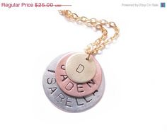 Initial/name stamped necklace
