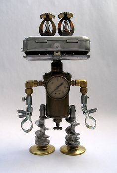 E.E.- Robot Assemblage Sculpture by Brian Marshall