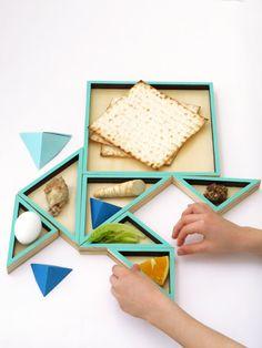 Pre Passover SALE Tangram Seder plate for kids by StudioArmadillo