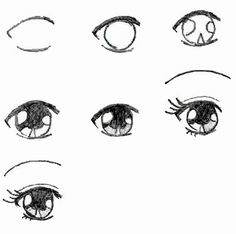 Manga Drawing Techniques How to draw Manga eyes. It is for those who love to draw manga. Mouth Drawing, Manga Drawing, Drawing Hair, Cute Eyes Drawing, Drawing Faces, Female Drawing, Drawing Style, Drawing Techniques, Drawing Tips