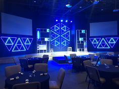 Triforce - Church Stage Design Ideas - Scenic sets and stage design ideas from churches around the globe. Stage Set Design, Church Stage Design, Tool Design, Design Ideas, Design Lab, Club Design, House Design, Journey Church, Church Interior Design