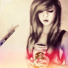 Drawing by Kristina webb ♥ | We Heart It | drawing, girl, and ...