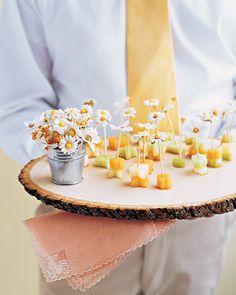 Daisy-Topped Hors dOeuvres Toothpicks