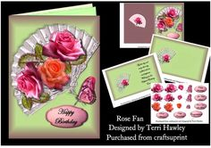 - This beautiful complete card kit can be used for so many different reasons, as it many different labels. Birthday Design, Card Kit, Thank You Cards, Envelope, Birthday Cards, Card Making, Greeting Cards, Make It Yourself, Fan
