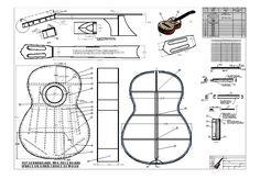 Jose Ramirez Classical Guitar Blueprint Plans – Design Drawings ...