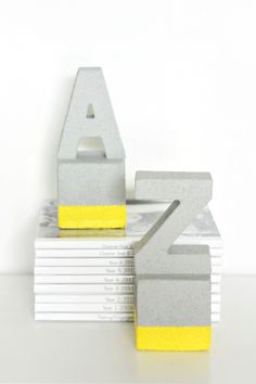 Use this fun tutorial with FolkArt Painted Finishes, FloraCraft foam, and Smooth Finish to create these awesome faux cement DIY book ends! MichaelsMakers  DIY Candy