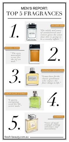 Male Report: The top 5 #fragrances for men