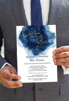 30 Stunning Ways to Include Pantone's 'Classic Blue' Colour of the Year in Your Wedding Day Elegant Wedding Invitations, Wedding Invitation Cards, Printable Invitations, Invite, Printables, Popular Wedding Colors, Starry Night Wedding, Whimsical Wedding, Pantone Color