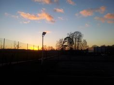 Day 9: Look, we have sunshine here too! I'm just leaving school, about 4 o'clock. — at Imberhorne School
