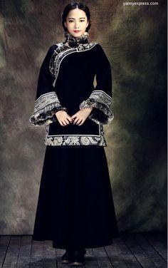 ceb9658645 Genuine Wool Grand Winter Cheongsam Knit Tweed Long Coat - YannyExpress - 1  Cheongsam Modern