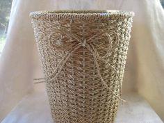 Etsy-Waste Basket, Bathroom Vintage Trash Can