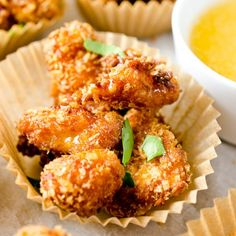 Crispy Chipotle Popcorn Chicken with Honey Mayo.
