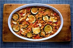 NYT Cooking: Orzo is a type of pasta that looks like rice. It's popular in Greece, where it is baked in casseroles like this one. If you like comforting dishes like macaroni and cheese, you'll like this.
