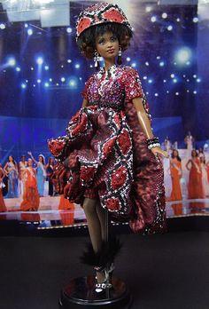 OOAK Barbie NiniMomo's Miss Ghana 2011
