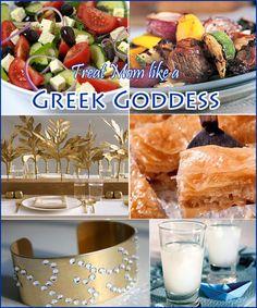 make mom feel like a Greek goddess with this fun themed dinner