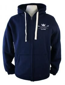 OUWBC Unisex Hoodie Soft and slouchy, our OUWBC navy zipped hoodie is lined with brush back fleece for extra warmth and has a front pockets to keep your hands warm.  Features the OUWBC logo on the left breast and OXFORD on the back.