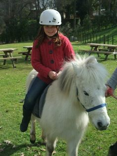 going for a ride on a pony when i was like 8