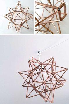 Make Center Pyramid for DIY Copper Moravian Star Pendant Light Fixture