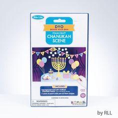 "Chanukah Foam Scene, 9"" X 6"", Carded  #gift #mitzvah #judaica #israeli #jewish #israel #holyland"