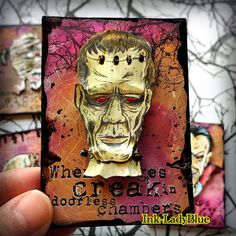 Halloween Items, Halloween Cards, Atc Cards, Pocket Letters, Happy Mail, Cursed Child Book, Tim Holtz, Artisanal, Stamping