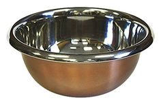ZUCCOR Premium Stainless Steel Mixing Bowl with Copper Plated Exterior, 6.3 qt./6000ml Capacity -- SUPERB BEST OFFER! : Mixing bowls baking