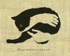 Chats/animal compté Cross Stitch Pattern