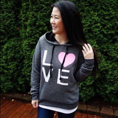 🎉PM Editor Pick🎉 NWT L💗VE Sweatshirt This is brand new and is 100% Cotton.  This would be a great addition to any casual outfit! 💋 T&J Designs Tops Sweatshirts & Hoodies