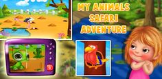 Feel the amazing experience of in this and learn an exciting life of animals. Free Android Games, Android Apps, Safari Adventure, Safari Animals, My Animal, Games For Kids, Google Play, Activities, Feelings