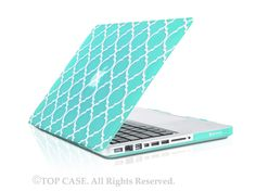"""Amazon.com: TopCase Quatrefoil / Moroccan Trellis Black Ultra Slim Light Weight Rubberized Hard Case Cover for Macbook Pro 13-inch 13"""" (A1278/with or without Thunderbolt) - NOT for Retina Display: Computers & Accessories"""