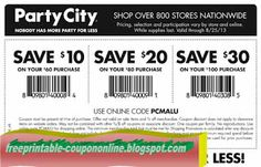 Party City Coupons Ends of Coupon Promo Codes MAY 2020 ! When grandma's your deserving parties splendid where we Party creating . Pizza Coupons, Mcdonalds Coupons, Party Printables, Free Printables, Tide Coupons, Print Coupons, Target Coupons, Free Printable Coupons, Price Book