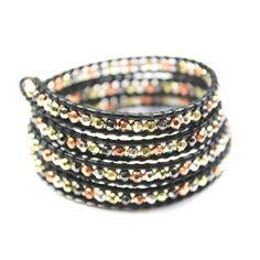 Wrap Bracelet Carbon Mix, $36, now featured on Fab.