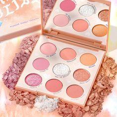 Colourpop Palette, Colourpop Cosmetics, Makeup Cosmetics, Bronze Eyeshadow, Peach Eyeshadow, Makeup Palette, Eyeshadow Palette, Coral Makeup, Orange You Glad