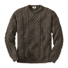 Just found this Cable Knit Crew Neck Sweater - Black Sheep Irish Fishermans Sweater -- Orvis on Orvis.com!