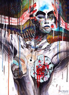 Minjae Lee (aka GrenoMJ) is a self-instructed Korean artist who started drawing since he was a kid. His artworks are usually colorful portraits of women blended with illustrations of nature. Art And Illustration, Creative Illustration, Tachisme, Drawing Simple, Art Couple, Art Watercolor, Arte Pop, Korean Artist, Female Portrait
