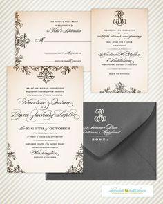 Klasyczne i eleganckie zaproszenia ślubne - Ślub Na Głowie