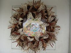 Only 45 Dollars...WHAT?  MICKEY and Friends Thanksgiving Fall Autumn Deco Mesh Door Wreath, Wall, Gift, Get Together, Party, Peanuts by JandJPrettyThings on Etsy