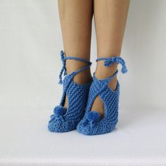 Japan slippers. Knit Slippers. House slippers. by mymomsshop1