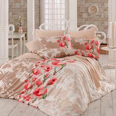 Lenjerie de pat double bumbac 100% Begenal Lama Rosu. Preț: 239 lei (livrare gratuită).