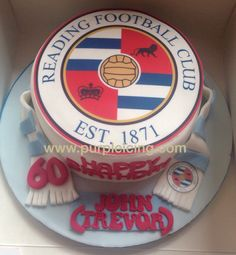 Pure Icing Cake. Reading FC Cake. Reading Fc, How To Make Cake, Icing, Birthdays, Birthday Cake, Pure Products, Cakes, Purple, Desserts