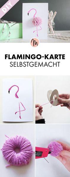 Flamingo Karte Selbstgemacht   Kostenlose DIY Anleitung Via Makerist.de
