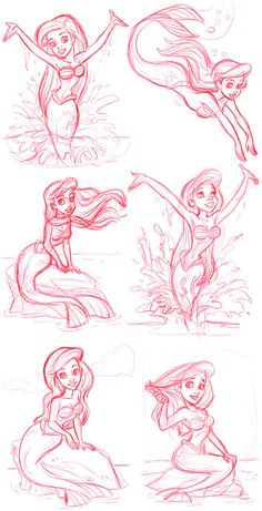 Lovely Ariel sketches by #TomBancroft