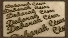 Apliques de nomes personalizados para caixinhas de lembranças. Em MDF cru ou colorido, espessura 3 mm. #artesanato #mdf #lembrancinhas #letrasmdf www.beijaflorartesanato.com.br