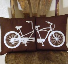 Tandem Bicycle Pillows