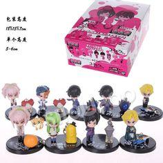 Anime Code Geass Lelouch CC Nunnally Mini PVC Figures Toys 9pcs/set OTFG186