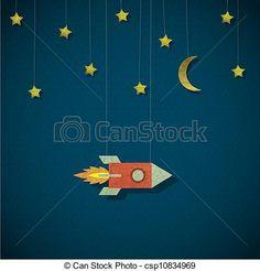 space rocket illustration - Google Search